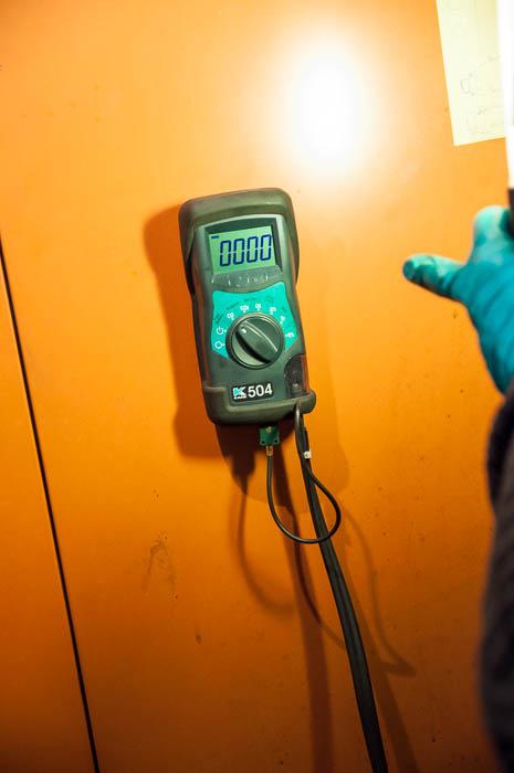 Mesure du taux de monoxyde de carbone
