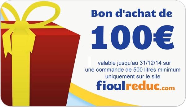 Chèque Cadeau de 100€ de Fioul