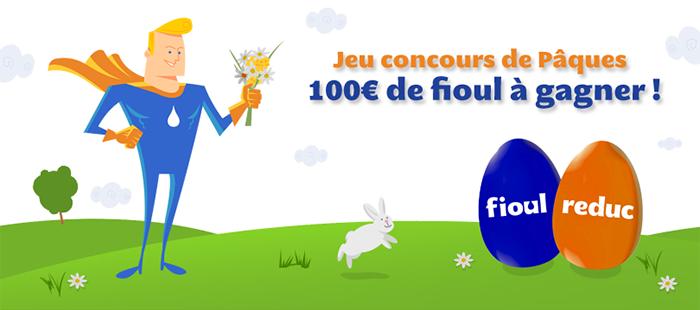 Jeu concours de Pâques FioulReduc - 100€ à gagner
