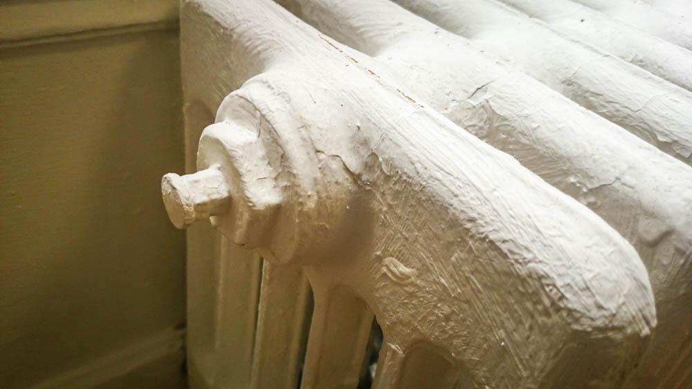 Robinet de purge d'un radiateur