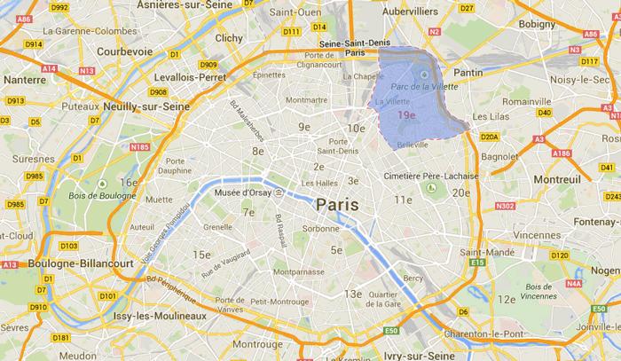 Emplacement du 19e arrondissement