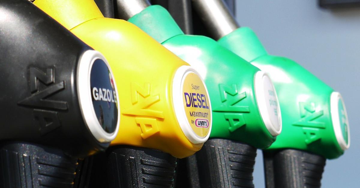 gazole et carburant dans une station service