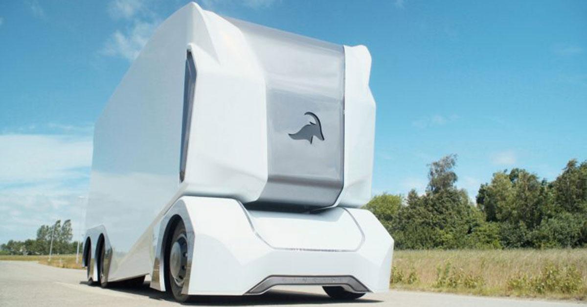camion autonome T-pod de la société suédoise Einride