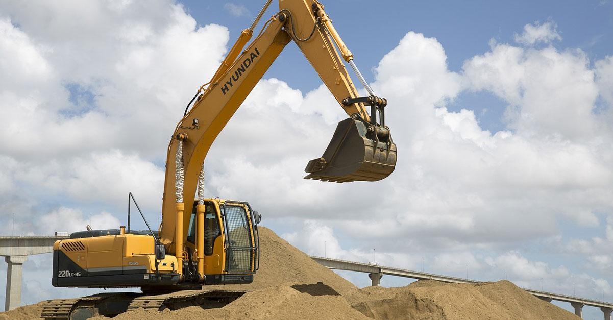 pelleteuse chantier de construction