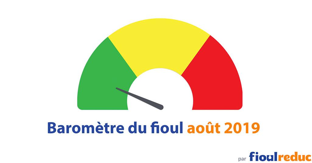 header baromètre mensuel prix du fioul FioulReduc août 2019