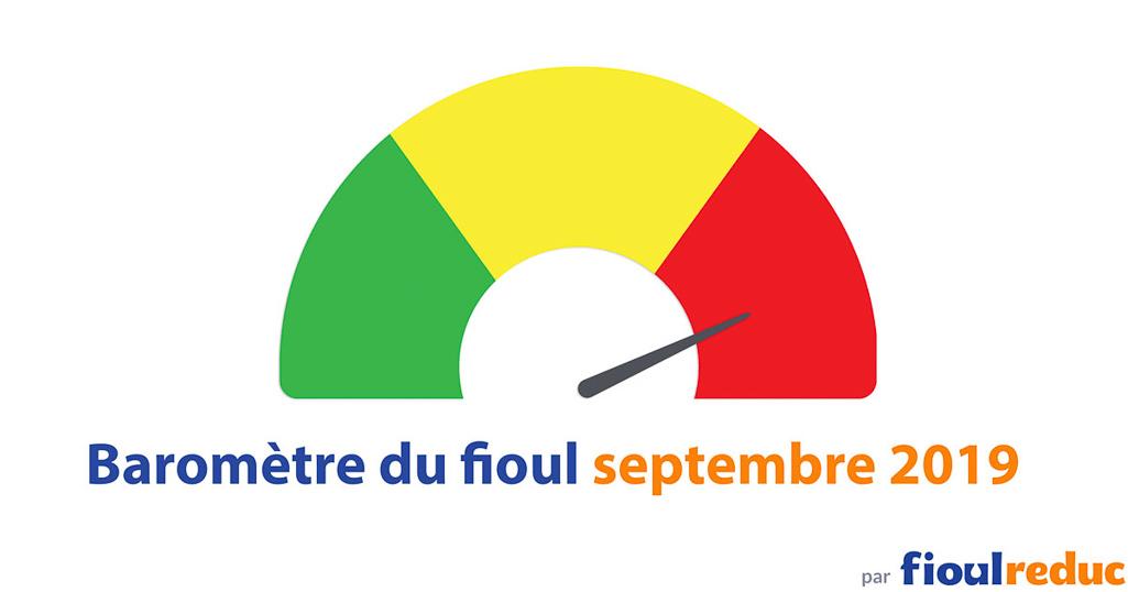 header baromètre mensuel prix du fioul FioulReduc septembre 2019
