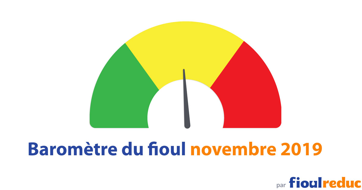 header baromètre mensuel prix du fioul FioulReduc novembre 2019