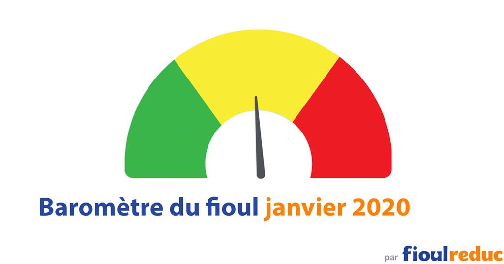 header baromètre mensuel prix du fioul FioulReduc janvier 2020