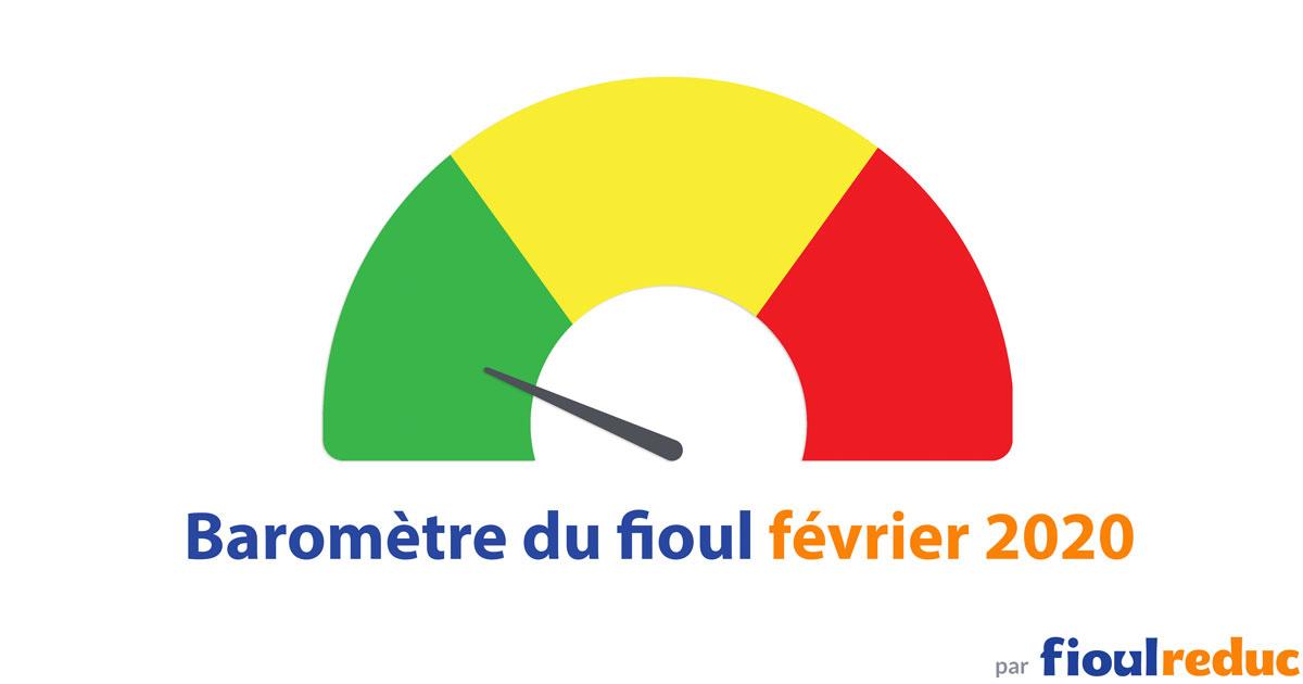 header baromètre mensuel prix du fioul FioulReduc février 2020