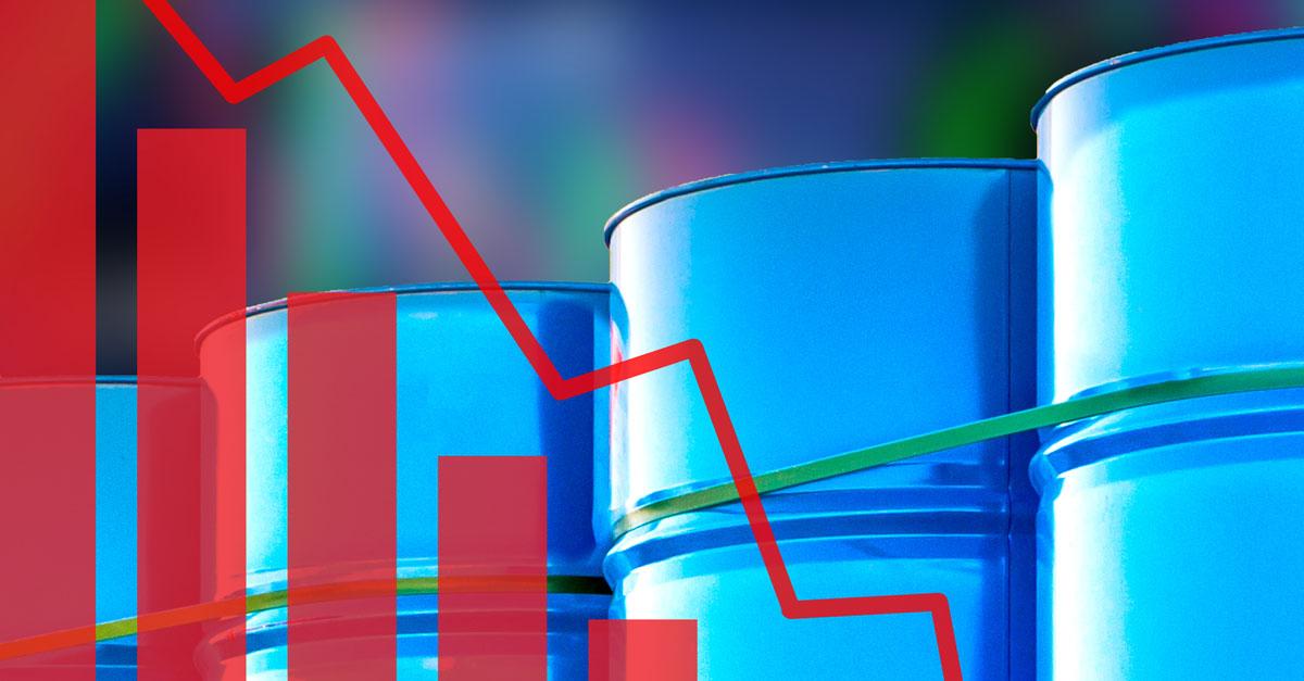 chute du baril de pétrole