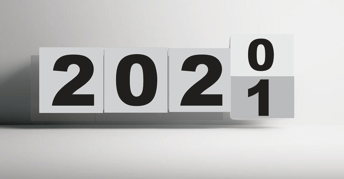 calendrier fin 2020 début 2021